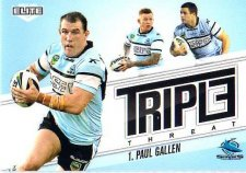 2013 NRL Elite Triple Threats TT31 Paul Gallen Sharks