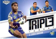 2013 NRL Elite Triple Threats TT26 Chris Sandow Eels