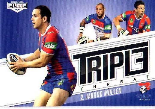 2013 NRL Elite Triple Threats TT23 Jarrod Mullen Knights