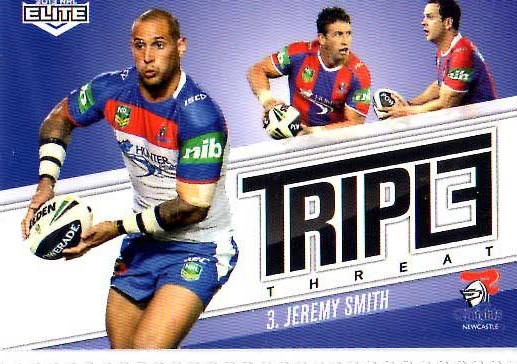 2013 NRL Elite Triple Threats TT24 Jeremy Smith Knights