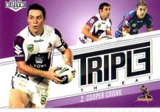 2013 NRL Elite Triple Threats TT20 Cooper Cronk Storm