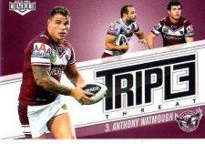 2013 NRL Elite Triple Threats TT18 Anthony Watmough Sea Eagles