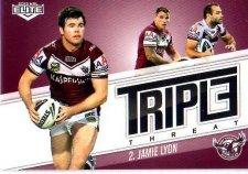 2013 NRL Elite Triple Threats TT17 Jamie Lyon Sea Eagles