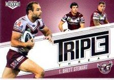 2013 NRL Elite Triple Threats TT16 Brett Stewart Sea Eagles