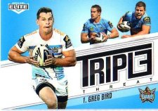 2013 NRL Elite Triple Threats TT13 Greg Bird Titans