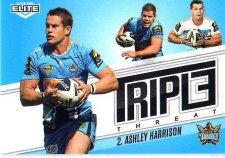 2013 NRL Elite Triple Threats TT14 Ashley Harrison Titans