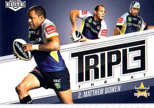 2013 NRL Elite Triple Threats TT11 Matthew Bowen Cowboys