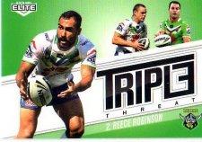 2013 NRL Elite Triple Threats TT8 Reece Robinson Raiders
