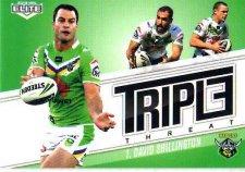 2013 NRL Elite Triple Threats TT7 David Shillington Raiders