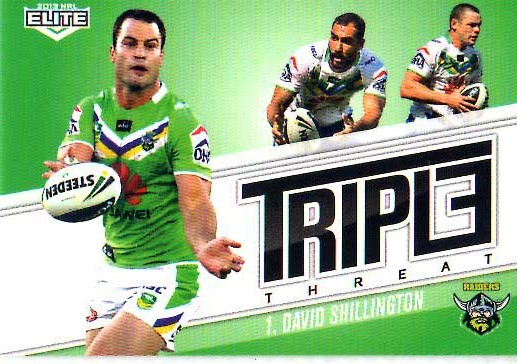 2013 NRL Elite Triple Threats TT7 David Shillington Raiders