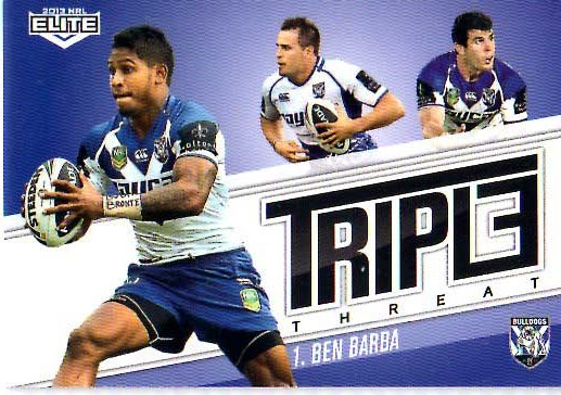 2013 NRL Elite Triple Threats TT4 Ben Barba Bulldogs