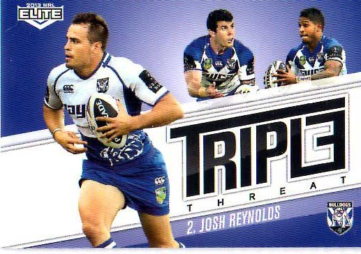 2013 NRL Elite Triple Threats TT5 Josh Reynolds Bulldogs