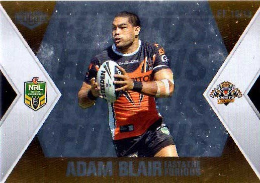 2013 NRL Elite Fast & Furious #FF16 Blair / Koroibete Tigers