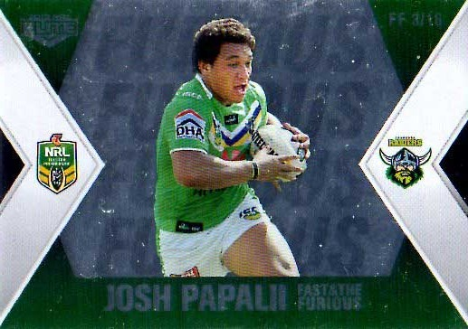 2013 NRL Elite Fast & Furious #FF3 Papalii / Furguson Raiders