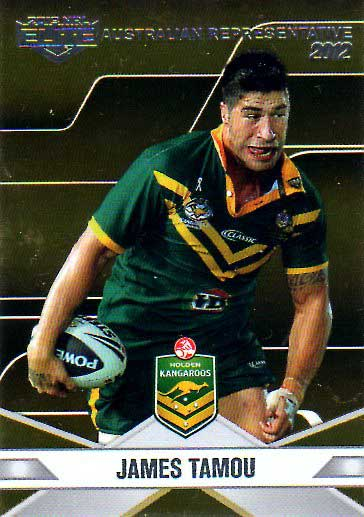 2013 NRL Elite Australian Representative AR15 James Tamou Cowboys Australia