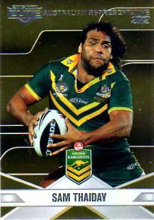 2013 NRL Elite Australian Representative AR16 Sam Thaiday Broncos Australia