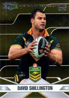 2013 NRL Elite Australian Representative AR14 David Shillington Raiders Australia