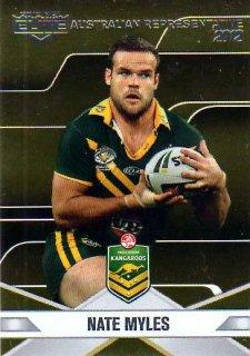 2013 NRL Elite Australian Representative AR12 Nate Myles Titans Australia