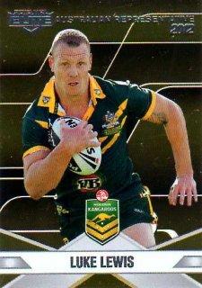 2013 NRL Elite Australian Representative AR8 Luke Lewis Sharks Australia