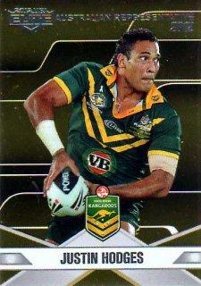 2013 NRL Elite Australian Representative AR6 Justin Hodges Broncos Australia