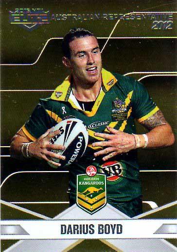 2013 NRL Elite Australian Representative AR3 Darius Boyd Knights Australia