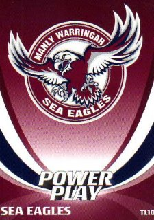 2014 NRL Power Play Team Logos #TL10 Manly Sea Eagles
