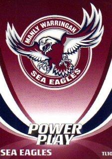 2014 NRL Power Play Team Logos #TL10 Manly Sea Eagles