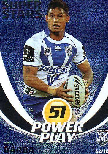 2014 NRL Power Play Super Stars #S2 Ben Barba Bulldogs