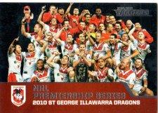 2013 NRL Traders Premierships #P11 2010 St.George Illawarra Dragons