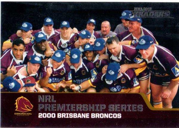 2013 NRL Traders Premierships #P3 2000 Brisbane Broncos