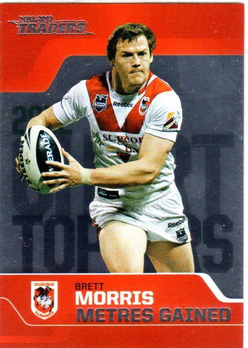 2013 NRL Traders Chart Toppers #CT8 Brett Morris Dragons