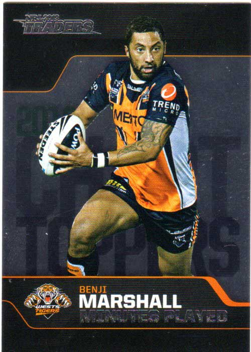2013 NRL Traders Chart Toppers #CT5 Benji Marshall Tigers