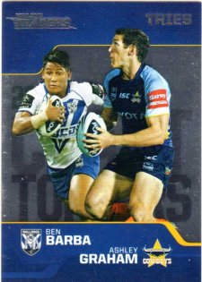 2013 NRL Traders Chart Toppers #CT1 Ben Barba / Ashley Graham