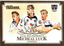 2013 NRL Traders Retirements #R8 Michael Luck Warriors