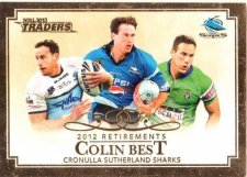 2013 NRL Traders Retirements #R1 Colin Best Sharks