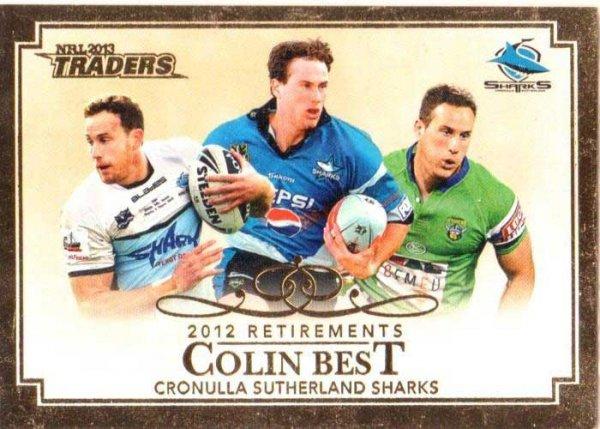 2013 NRL Traders Retirements #R1 Colin Best Sharks