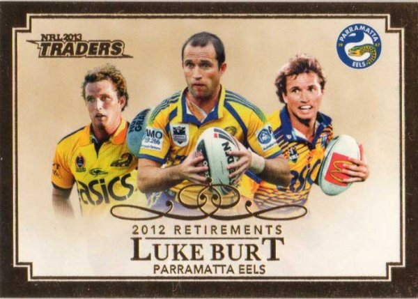 2013 NRL Traders Retirements #R2 Luke Burt Eels