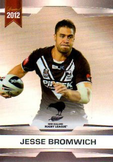 2012 NRL Limited Edition Parallel P13 Jesse Bromwich Storm New Zealand