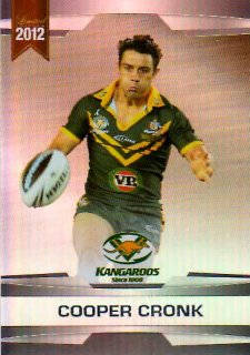 2012 NRL Limited Edition Parallel P2 Cooper Cronk Storm Australia