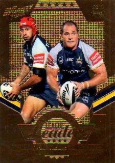 2012 NRL Dynasty Gold League Leader LLG9 Thurston / Scott Cowboys #132/150
