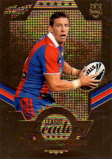 2012 NRL Dynasty Gold League Leader LLG8 Kurt Gidley Knights #71/150