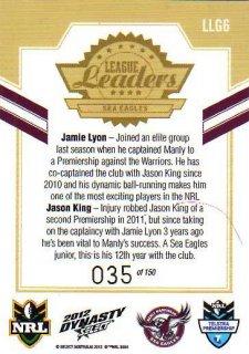 2012 NRL Dynasty Gold League Leader LLG6 Lyon / King Sea Eagles #35/150