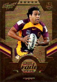 2012 NRL Dynasty Gold League Leader LLG1 Sam Thaiday Broncos #6/150