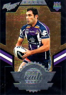 2012 NRL Dynasty Black League Leader LLB7 Cameron Smith Storm #25/50