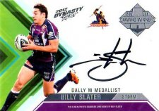 2012 NRL Dynasty Signature Redemption AWS1 Billy Slater Storm #21/100