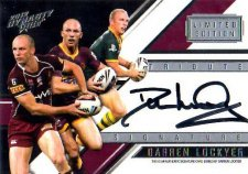 2012 NRL Dynasty Signature Redemption TSS1 Darren Lockyer Broncos #98/100