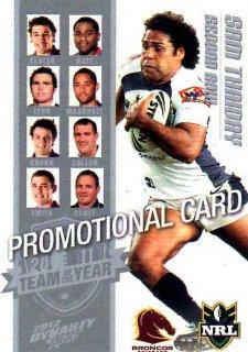 2012 NRL Dynasty PROMO Card Sam Thaiday Broncos