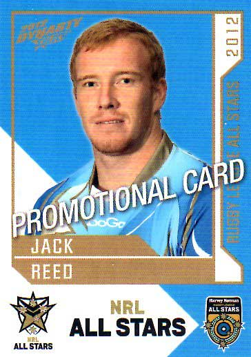 2012 NRL Dynasty PROMO Card Jack Reed Broncos