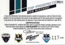 2012 NRL Dynasty Top Prospects Signature TPS10 Sam McKendry Panthers #117/300