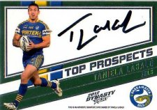 2012 NRL Dynasty Top Prospects Signature TPS10 Taniela Lasalo Eels #66/300